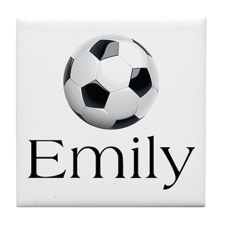 Emily Soccer Tile Coaster