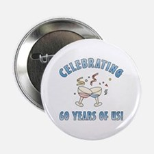 """60th Anniversary Party 2.25"""" Button"""