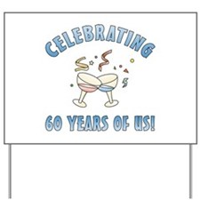 60th Anniversary Party Yard Sign