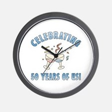 50th Anniversary Party Wall Clock