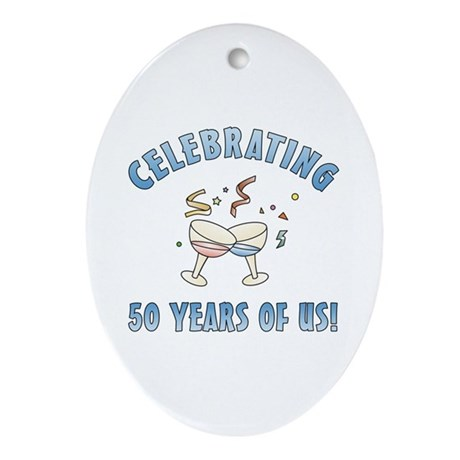 50th Anniversary Party Ornament (Oval)