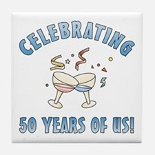50th Anniversary Party Tile Coaster