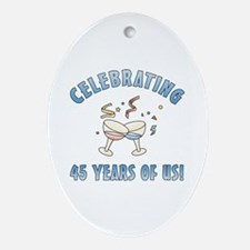 45th Anniversary Party Ornament (Oval)