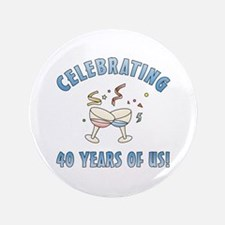 """40th Anniversary Party 3.5"""" Button"""