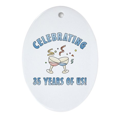 35th Anniversary Party Ornament (Oval)