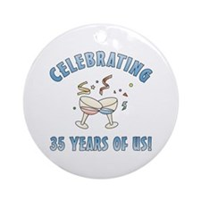 35th Anniversary Party Ornament (Round)