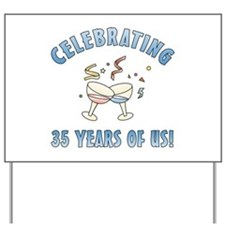 35th Anniversary Party Yard Sign