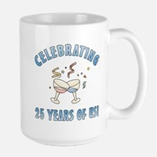 25th Anniversary Party Large Mug