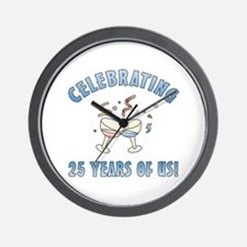 25th Anniversary Party Wall Clock