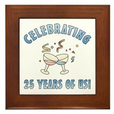 25th Anniversary Party Framed Tile