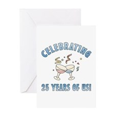 25th Anniversary Party Greeting Card