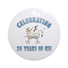 25th Anniversary Party Ornament (Round)