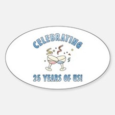 25th Anniversary Party Decal