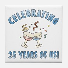 25th Anniversary Party Tile Coaster