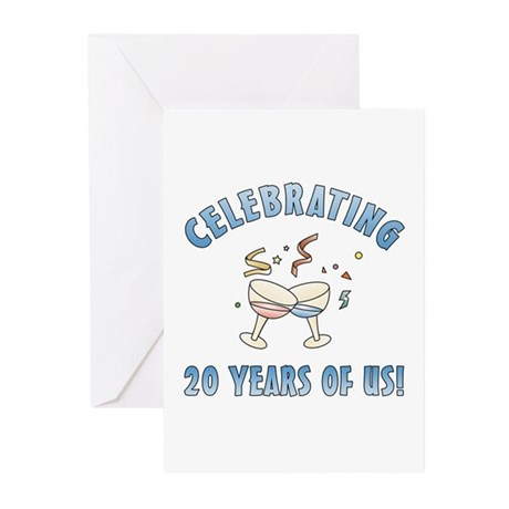 20th Anniversary Party Greeting Cards (Pk of 10)