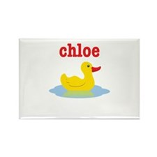 Chloe's rubber ducky Rectangle Magnet