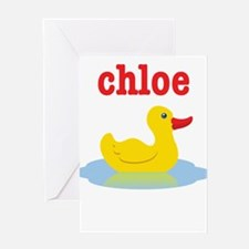 Chloe's rubber ducky Greeting Card