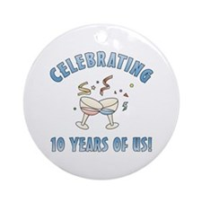 10th Anniversary Party Ornament (Round)