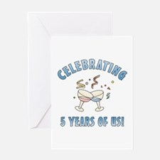 5th Anniversary Party Greeting Card