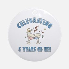 5th Anniversary Party Ornament (Round)