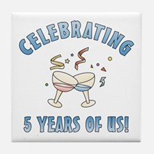 5th Anniversary Party Tile Coaster