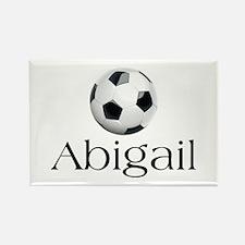 Abigail Soccer Rectangle Magnet