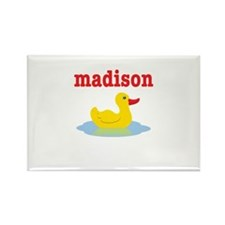 Madison's rubber ducky Rectangle Magnet