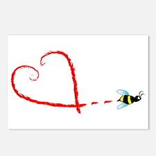 Love Bee Postcards (Package of 8)