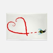 Love Bee Rectangle Magnet