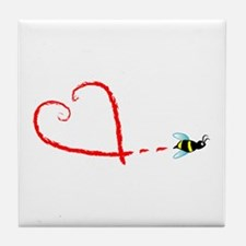 Love Bee Tile Coaster
