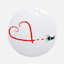 Love Bee Ornament (Round)