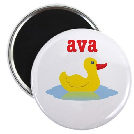 Ava's rubber ducky Magnet