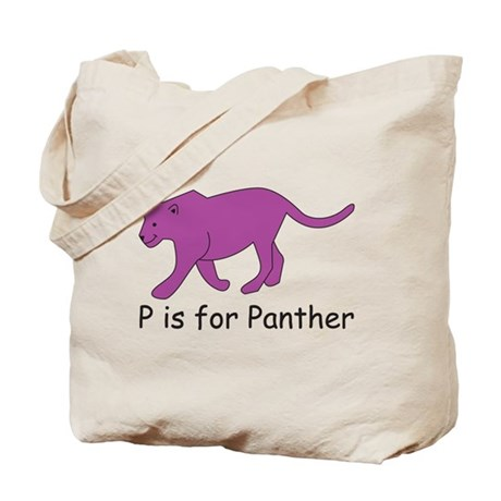 P is for Panther Tote Bag