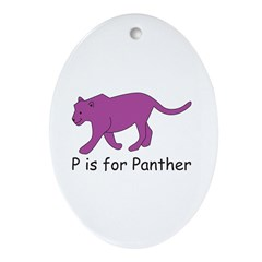 P is for Panther Ornament (Oval)