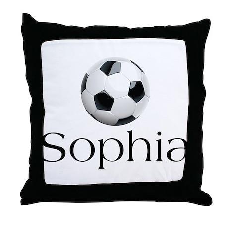 Sophia soccer Throw Pillow