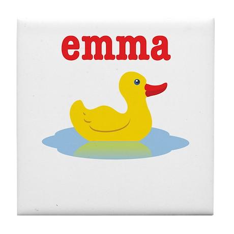 Emma's Rubber Ducky Tile Coaster