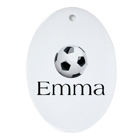 Emma Soccer Ornament (Oval)