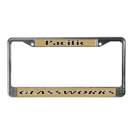 Pacific Glassworks License Plate Frame