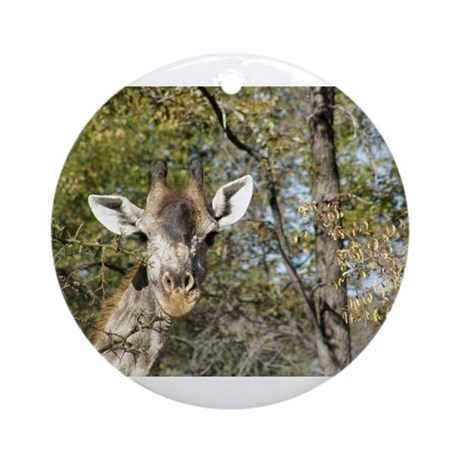 Happy Giraffe Ornament (Round)