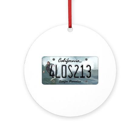CA Surfer Ornament (Round)