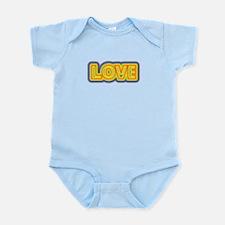 CRAZYFISH kids love Infant Bodysuit