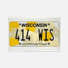 WI Cheese Rectangle Magnet