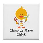 Cinco de Mayo Chick Tile Coaster