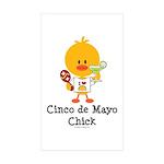 Cinco de Mayo Chick Sticker (Rectangle 10 pk)