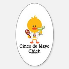 Cinco de Mayo Chick Sticker (Oval)