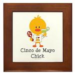 Cinco de Mayo Chick Framed Tile