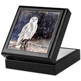 Snowy owls Square Keepsake Boxes