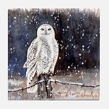Snowy Owl Tile Coaster
