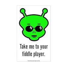 Fiddle Alien Decal