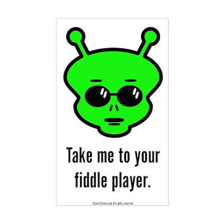 Fiddle Alien Sticker